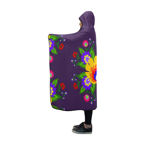 Image of Poland Polish Folk Art Hooded Blanket H7 | Love The World