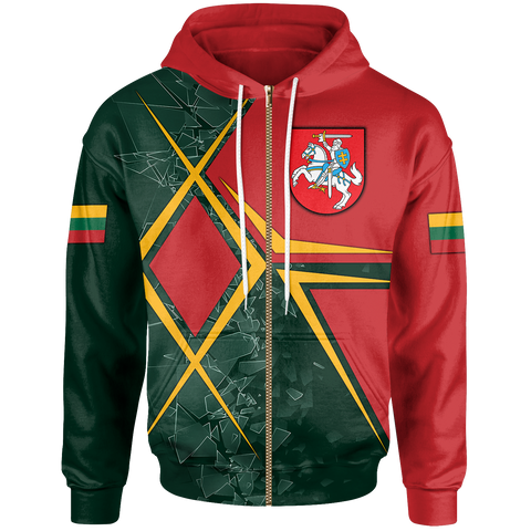 Image of Lithuania Zip-Up Hoodie - Lithuania Legend