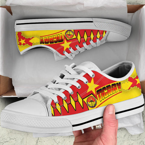 1sttheworld Tigray Low Top Shoes - Tigray Blood Flows In My Veins - BN21