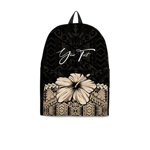 (Custom) Polynesian Backpack Hibiscus Personal Signature | Love The World