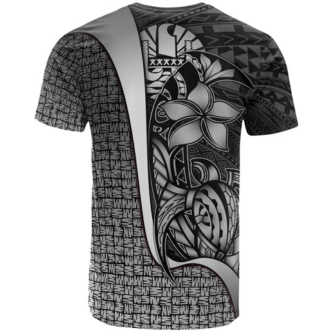 Image of Tahiti Polynesian T-Shirt White - Turtle with Hook
