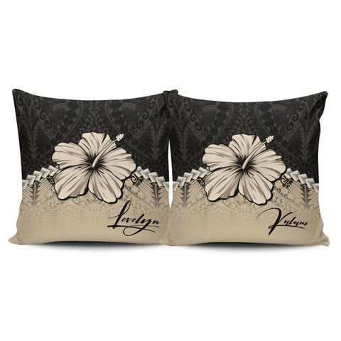 (Custom) Polynesian Pillow Cases Hibiscus Personal Signature | Love The World