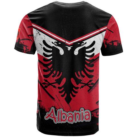 Albania T-Shirt - Vintage Grunge Style - BN12