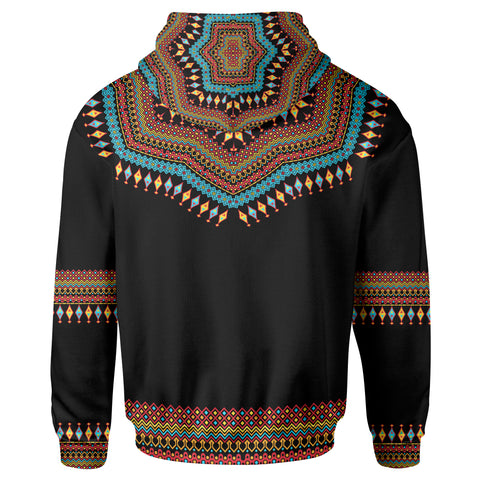 Dashiki Zip-Up Hoodie - Luxury Style