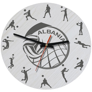 Albania Volleyball Wooden Wall Clock J2