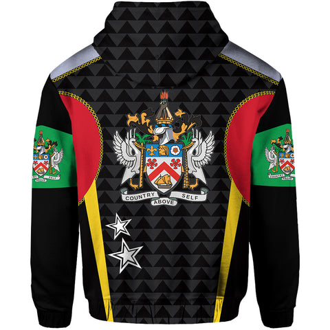 Image of Saint Kitts and Nevis Zip Hoodie Exclusive Edition K4