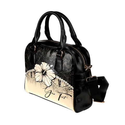 Image of (Custom) Polynesian Shoulder Handbag Hibiscus Personal Signature | Special Custom Design