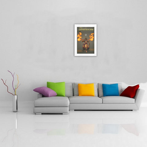 Tumatauenga God Of War Art Print K4