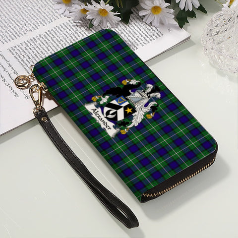 Image of ALEXANDER TARTAN CLAN BADGE ZIPPER WALLET HJ4
