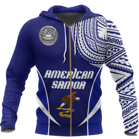 American Samoa Active Special Zipper Hoodie A7