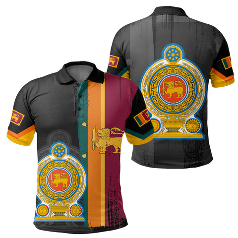 Sri Lanka Coat Of Arm Flag Polo Shirt - AH - J4