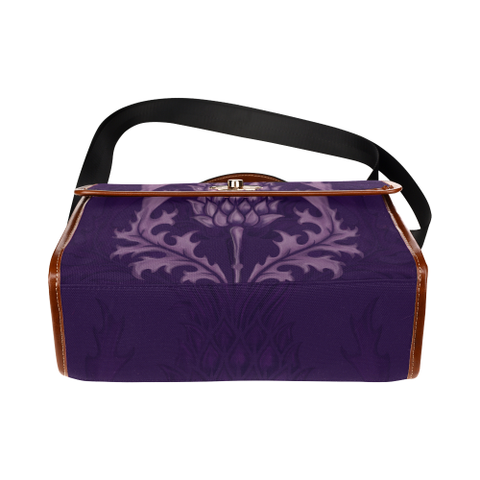 Scotland Canvas Bag - Purple Thistle | Hot Sale