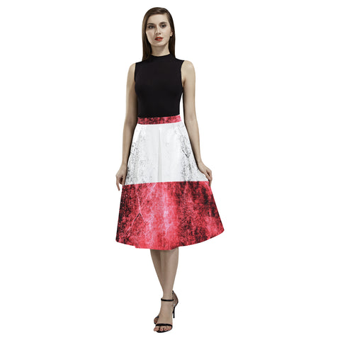 POLAND  FLAG AOEDE CREPE SKIRT A1