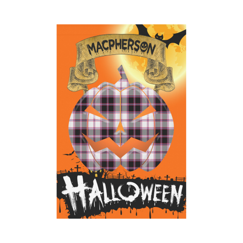 Macpherson Hunting Modern Tartan Jack O' Lantern Garden Flag / Halloween Home Decor Nn6 |Home Decor| 1sttheworld