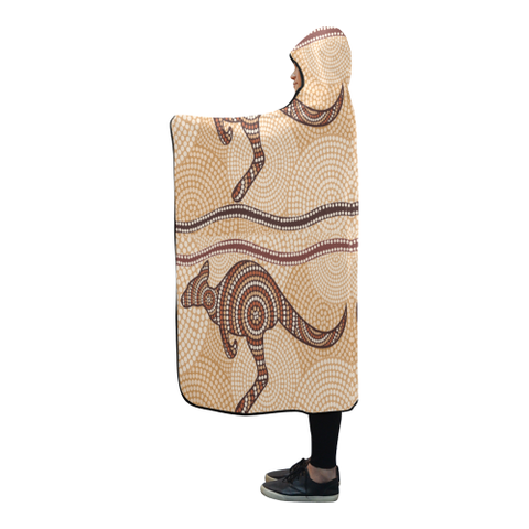 Australia Aboriginal 08 Hooded Blanket H7