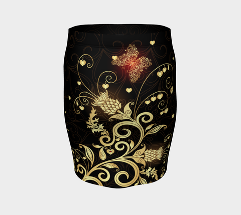 Scottish Golden Thistle Fitted Skirt | HOT Sale