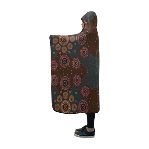 Image of Australia Aboriginal 10 Hooded Blanket H7 | Love The World