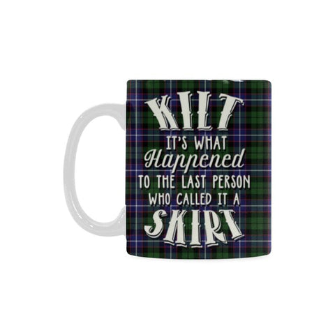 Image of Galbraith Modern Tartan Quote White Mug Hj4