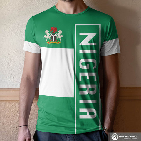 Nigeria All Over Print T-Shirt Bn10