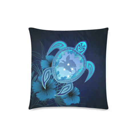 Papua New Guinea Blue Turtle Hibiscus Pillow Case | Love the World