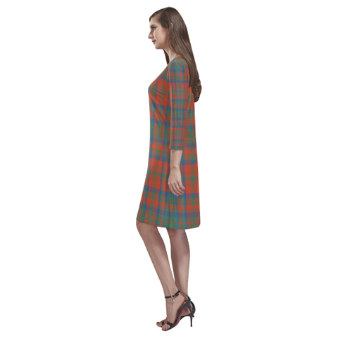 Image of Matheson Ancient Tartan Dress - Rhea Loose Round Neck Dress - BN