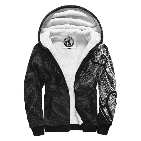 Maori Tattoo Style Special Sherpa Hoodie A7