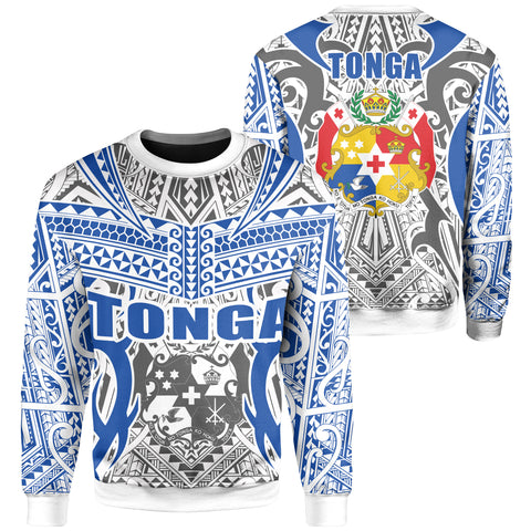 Image of Tonga Sweatshirt - Kingdom of Tonga White Blue J0