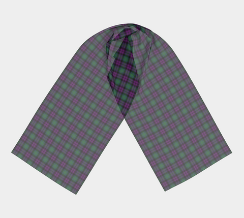 Image of Tartan Long Scarf - Macarthur Milton - Bn04 |Women's Clothing| 1sttheworld