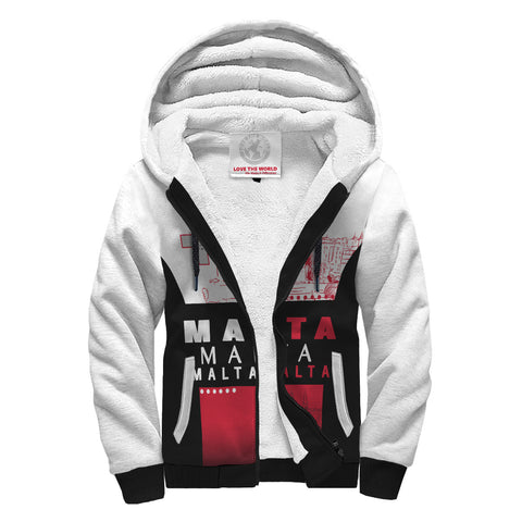 Malta Sherpa Hoodie - Valetta of Sunshine Edition - Red Mix - Front - For Men and Women