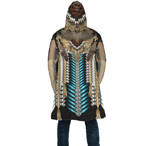Native American Cloak - Tail Hawk Dreamcatcher 1st - Black - Back - For Men and Women