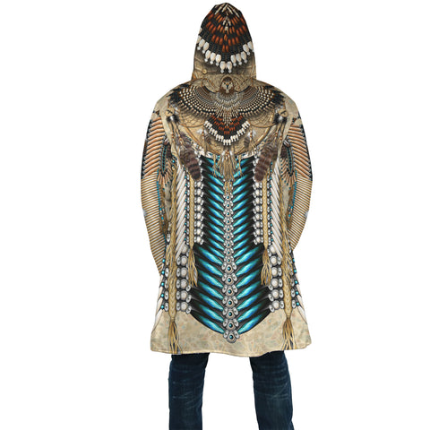 Native American Cloak - Tail Hawk Dreamcatcher 2nd - Light Brown - Back - For Men and Women