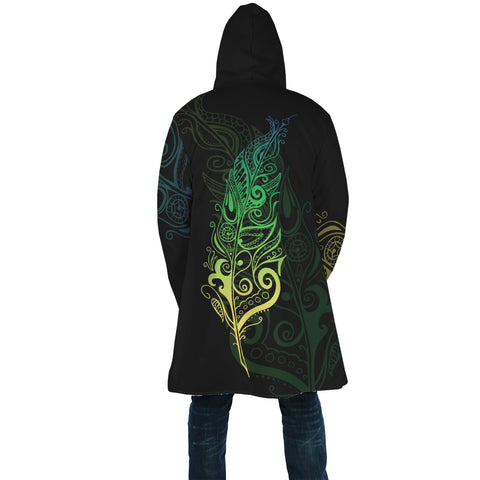 Maori Fern - Koru Green Hooded Cloak | Love New Zealand