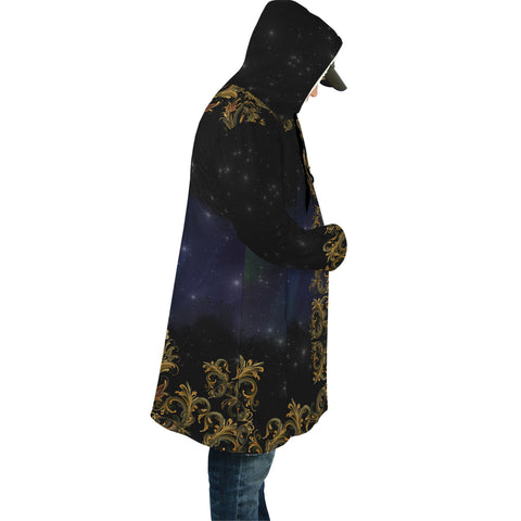 Norway Rosemaling And Northern Lights Cloak - Side