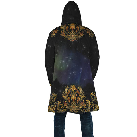 Norway Rosemaling And Northern Lights Cloak - Back