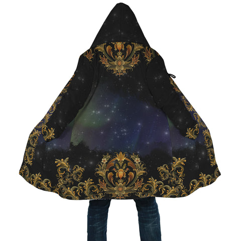 Norway Rosemaling And Northern Lights Cloak - Back 2