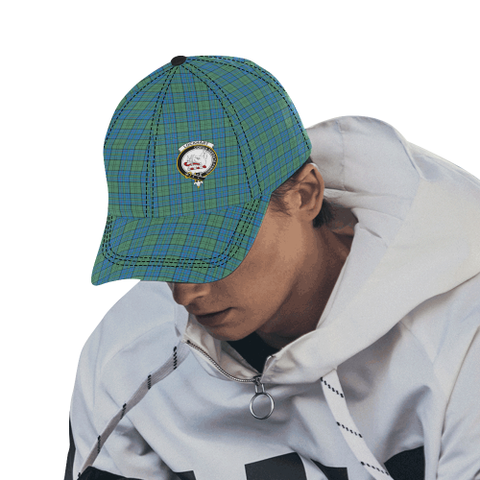 Image of Lockhart Clan Badge Tartan Dad Cap - BN03