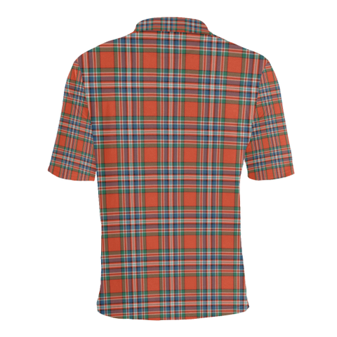 Macfarlane Ancient Tartan Clan Badge Polo Shirt HJ4