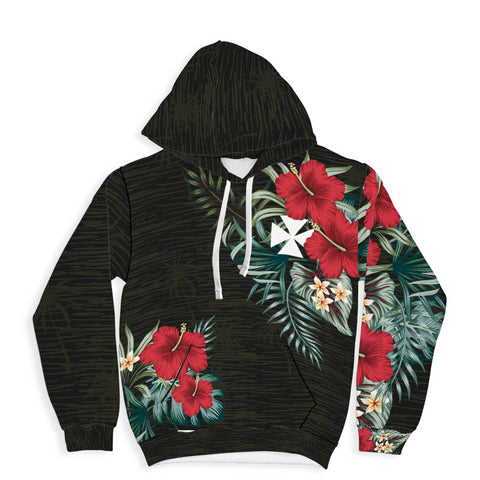 Image of Wallis and Futuna Hibiscus Hoodie A7