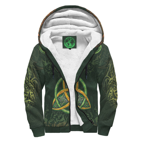 Celtic Knot Sherpa Hoodie - Celtic Green - BN01