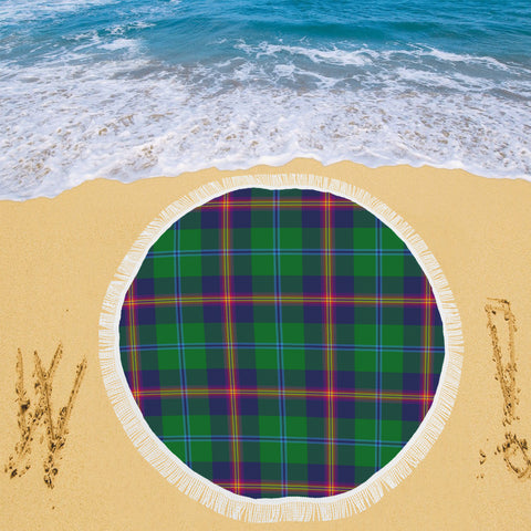 YOUNG MODERN TARTAN BEACH BLANKET th8