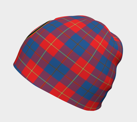 Image of Galloway Red Tartan Clan Crest Beanie Hj4