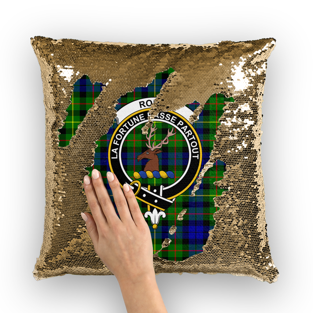 Rollo Clan Tartan Pillow Cover - Sequin Cushion Cover K5