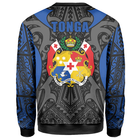 Image of Tonga Sweatshirt - Kingdom of Tonga Black Blue J0