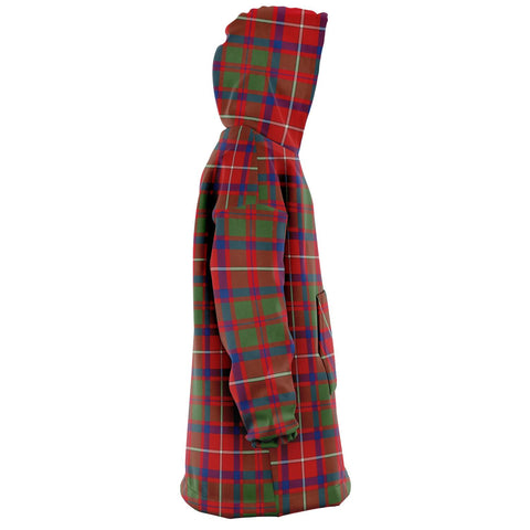 Shaw Red Modern Snug Hoodie - Unisex Tartan Plaid Right
