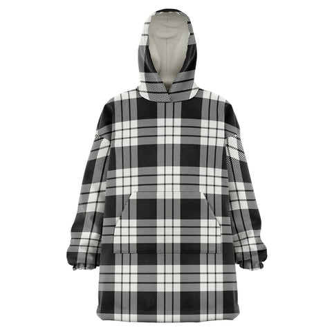 MacFarlane Black & White Ancient Snug Hoodie - Unisex Tartan Plaid Front