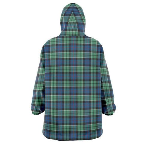 Image of Leslie Hunting Ancient Snug Hoodie - Unisex Tartan Plaid Back