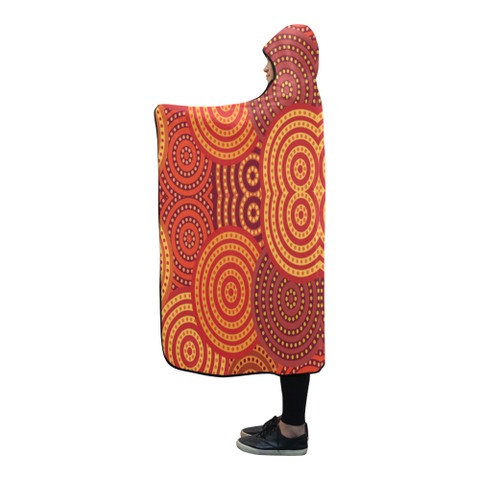 Image of Australia Aboriginal 07 Hooded Blanket H7 | Love The World