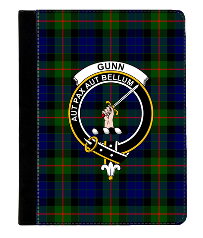 Gunn Modern Tartan Clan Badge Ipad 2/3/4 Leather Case K5
