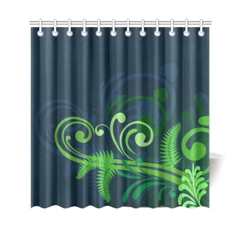 Special Edition of New Zealand Fern - Fern Shower Curtain