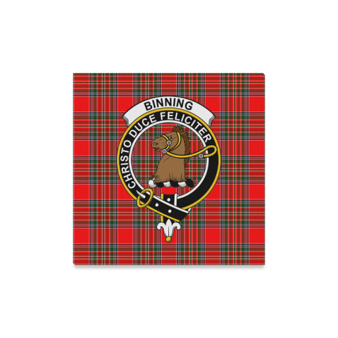 Image of Tartan Canvas Print - Binning (Of Wallifoord) Clan | Over 300 Scottish Clans and 500 Tartans